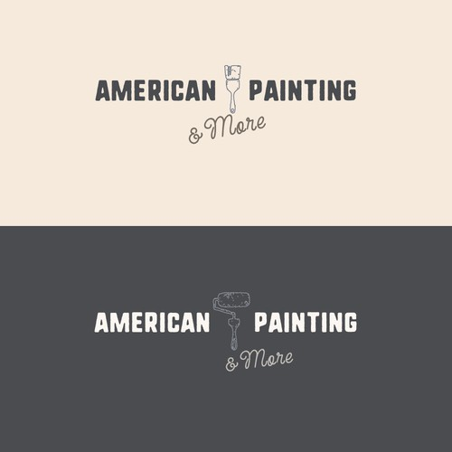 Rustic & Minimalist Logo for Painting Contractor