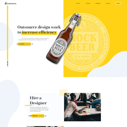 Web Design for Creative Army