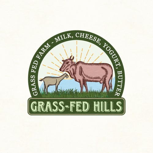 Create a natural logo for Grass fed farm