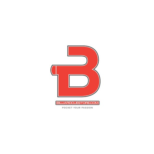 Stylized symbol for a billiard store