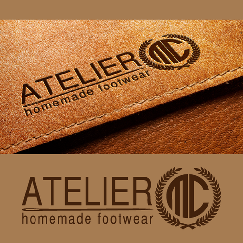 Create luxury and artistic style logo for handmade footwear