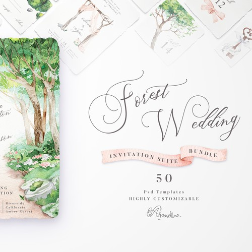 Cover for Forest Wedding Invitations
