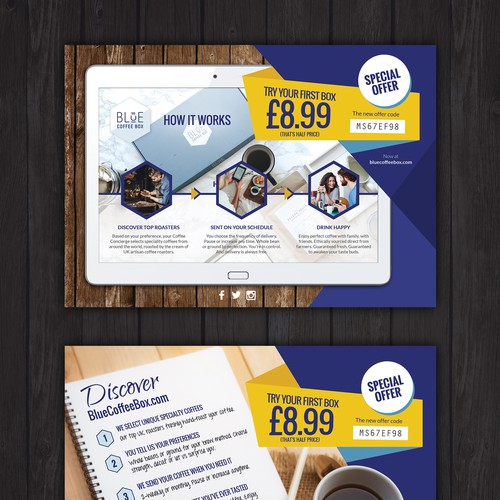 Gourmet Coffee Subscription Mailshot Insert