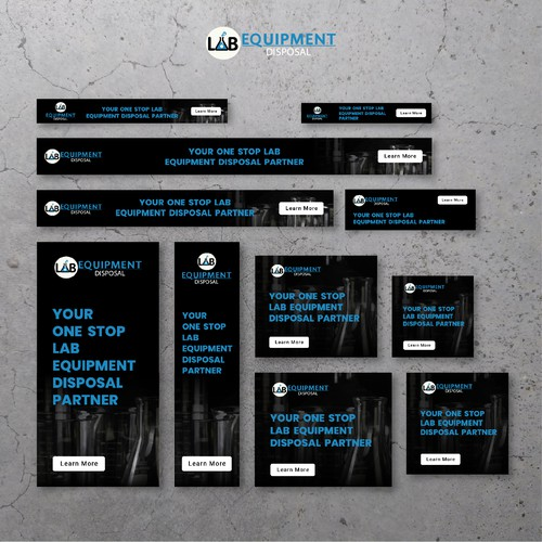Ad Banners Design for LAB EQUIPMENT DISPOSAL