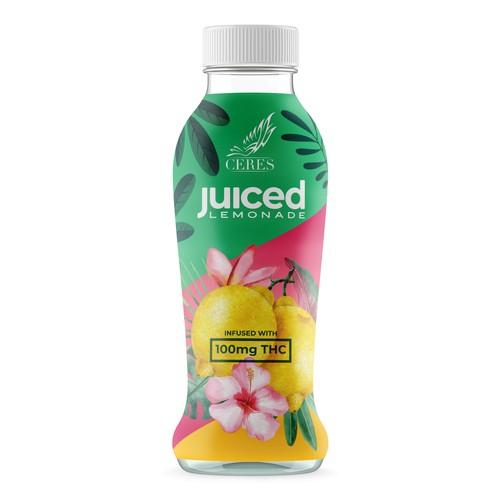 Lemonade drink bottle design