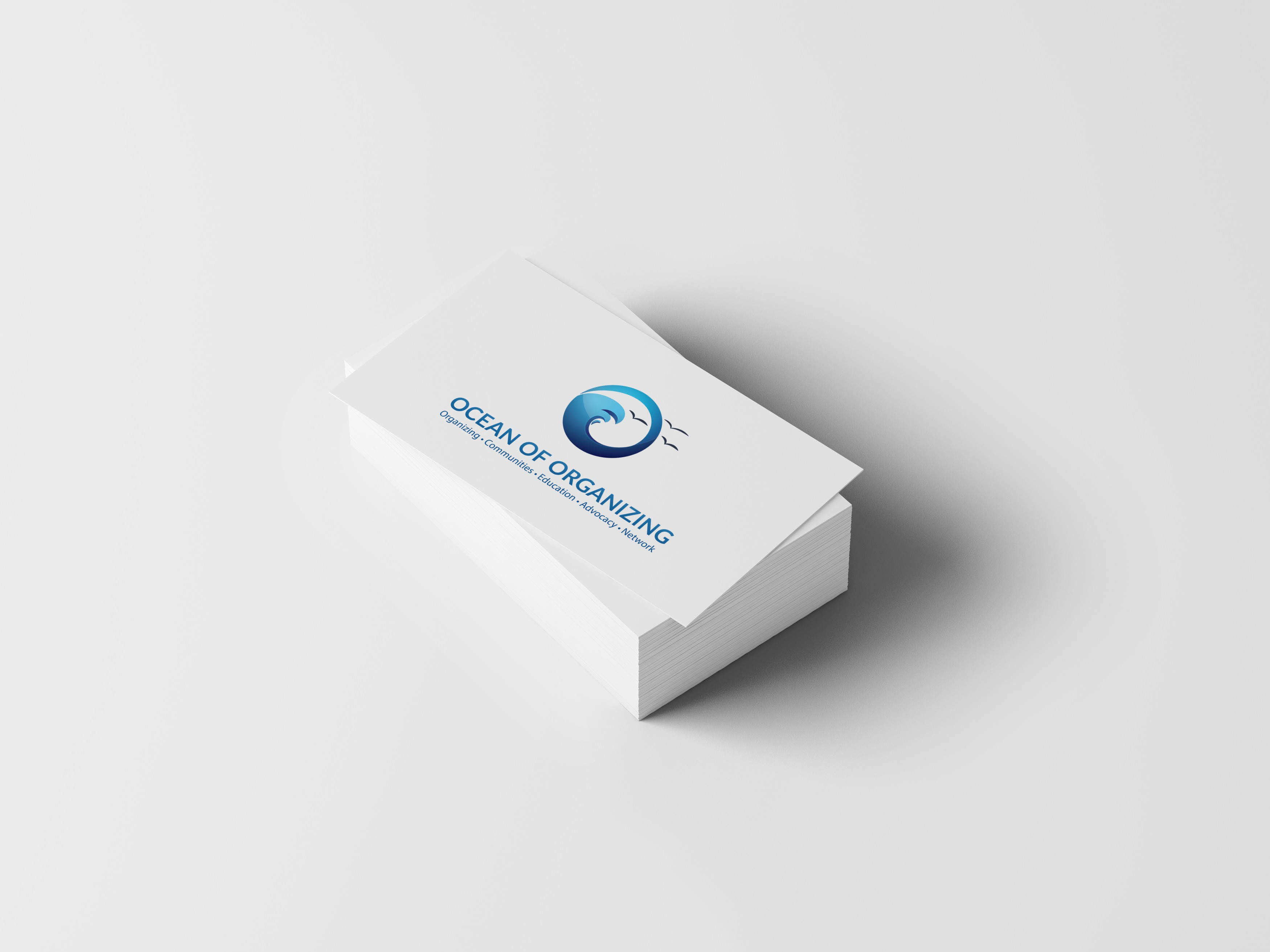 Create bold clean wave logo for Groundswell Action & Consulting
