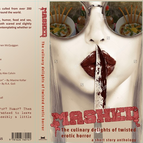 Book Cover for an Erotic Culinary Horror Book