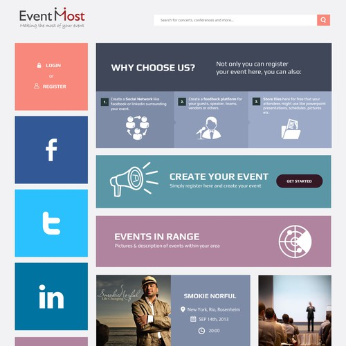 New website design wanted for EventMost
