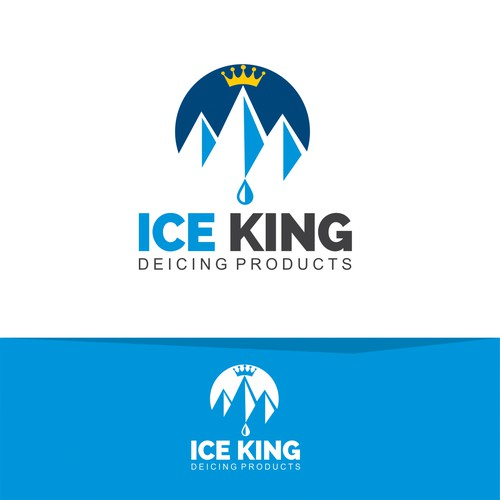 ICE KING logo concept.
