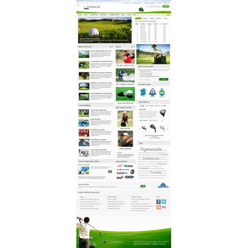 Designing a golf site