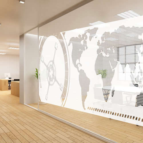 Create a glass wall mural design for a leading wealth management firm!!!