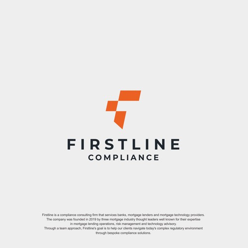 Logo concept for Firstline Compliance