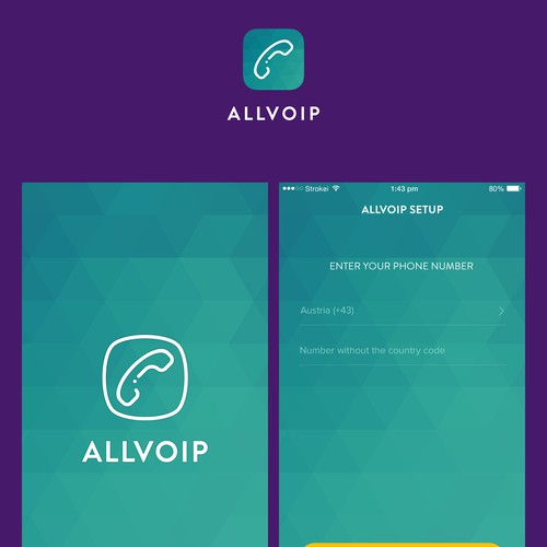 AllVoIP App Icon and App Design