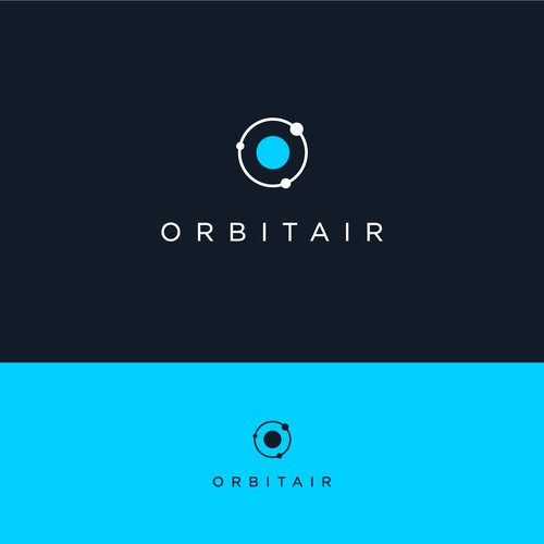 Minimalistic logo for Orbitair