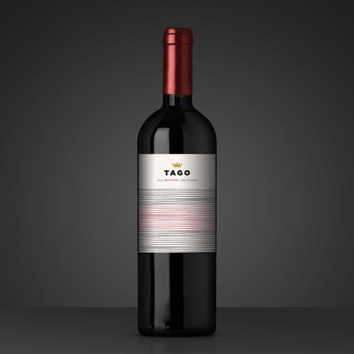 Contemporary Wine Brand Label