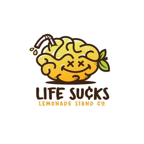 Cool lemon brain character