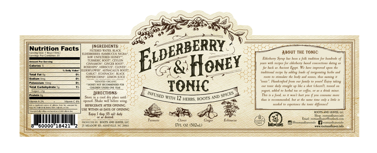 Elderberry Tonic Label Tweak