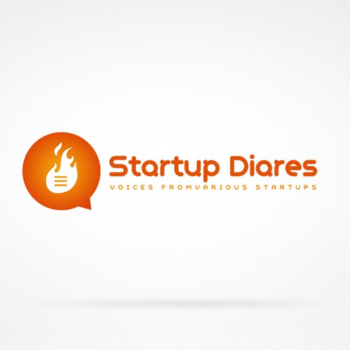 Create the next logo for The Startup Diaries