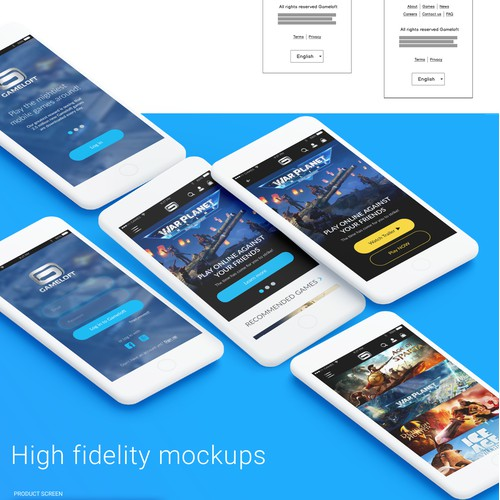 Concept for App Design (mobile) - Video Games Store
