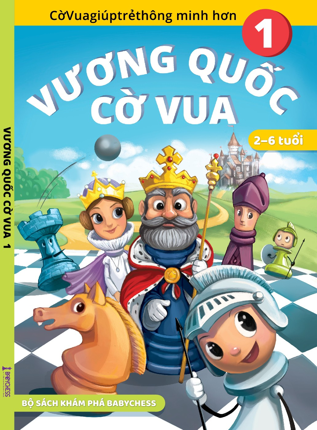 Creative Chess book cover for 2 - 6 years old kids