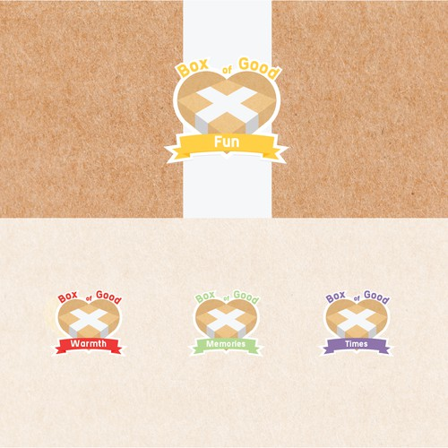 "Logo design for ""box of good"" fundraising"