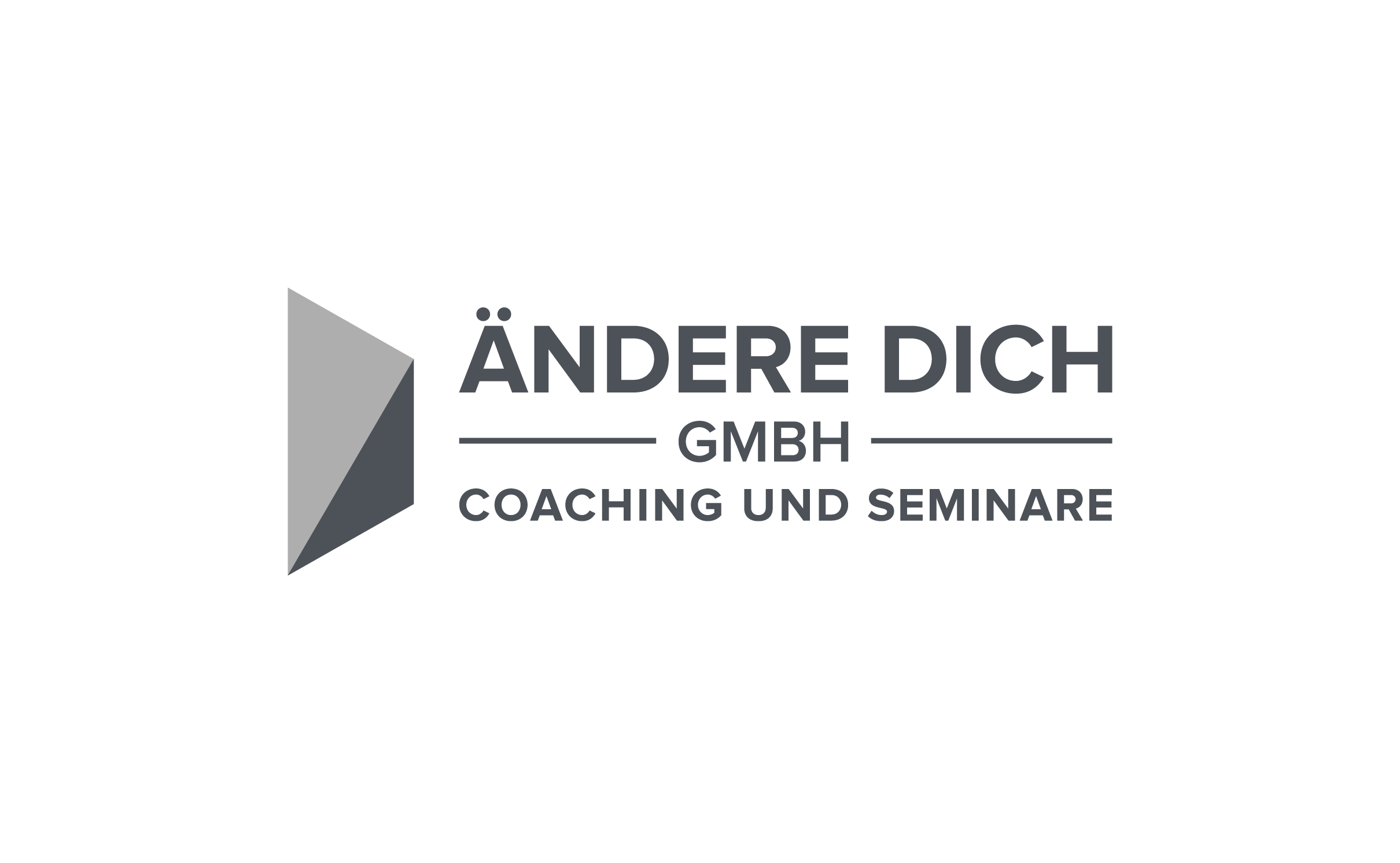 The Ändere Dich GmbH (Change Yourself Company) needs an energetic logo, which makes you curious.