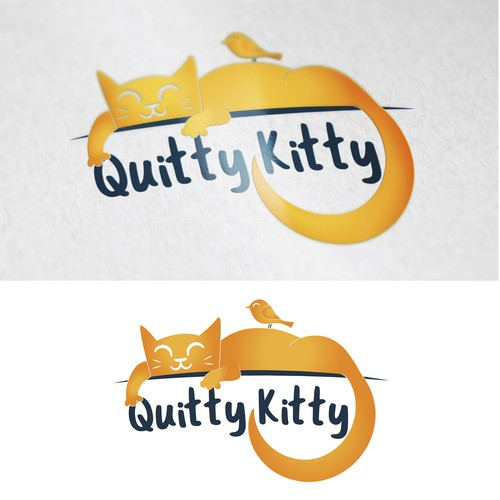 logo concept for QuittyKitty's brand