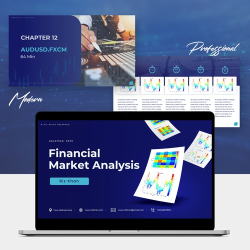 Financial report presentation design