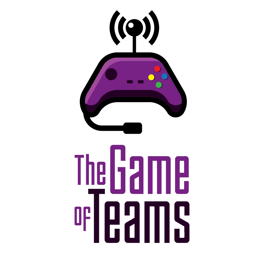 A cool team logo that captures the essence of a game for a new podcast it must fit within a box to be posted on iTunes