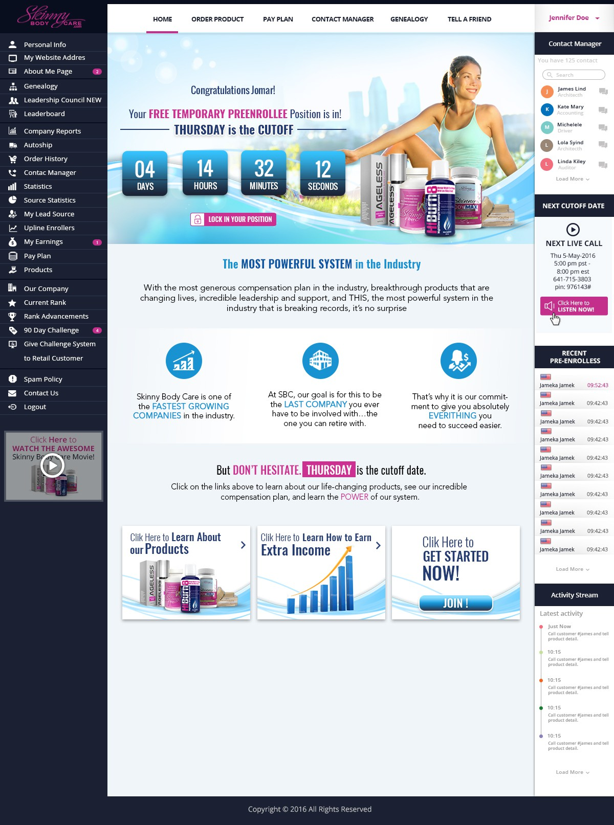 *** GUARANTEED PRIZE *** - New Website Template for MLM Company - NEW!