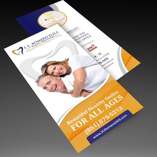 Brochure for a dental office
