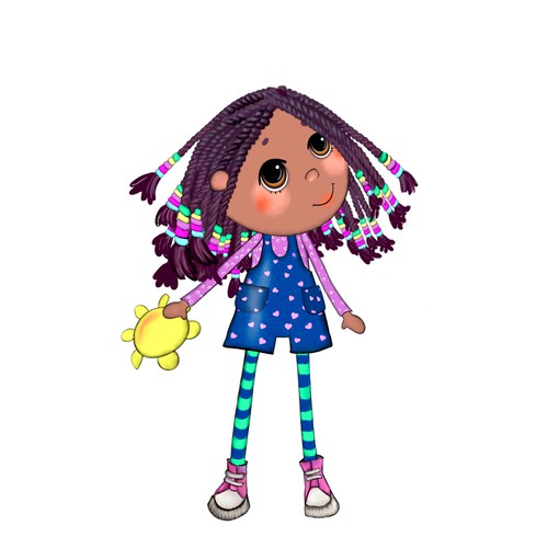 Plush Doll design (African girl)