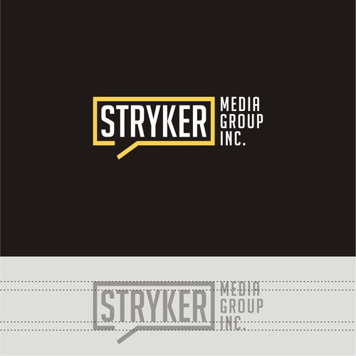 clean logo design concept for STRYKER MEDIA GROUP