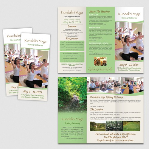 Create a Brochure for a Beautiful Yoga Retreat in Canada