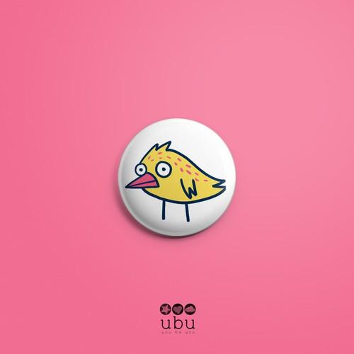 Badge kids design illustration