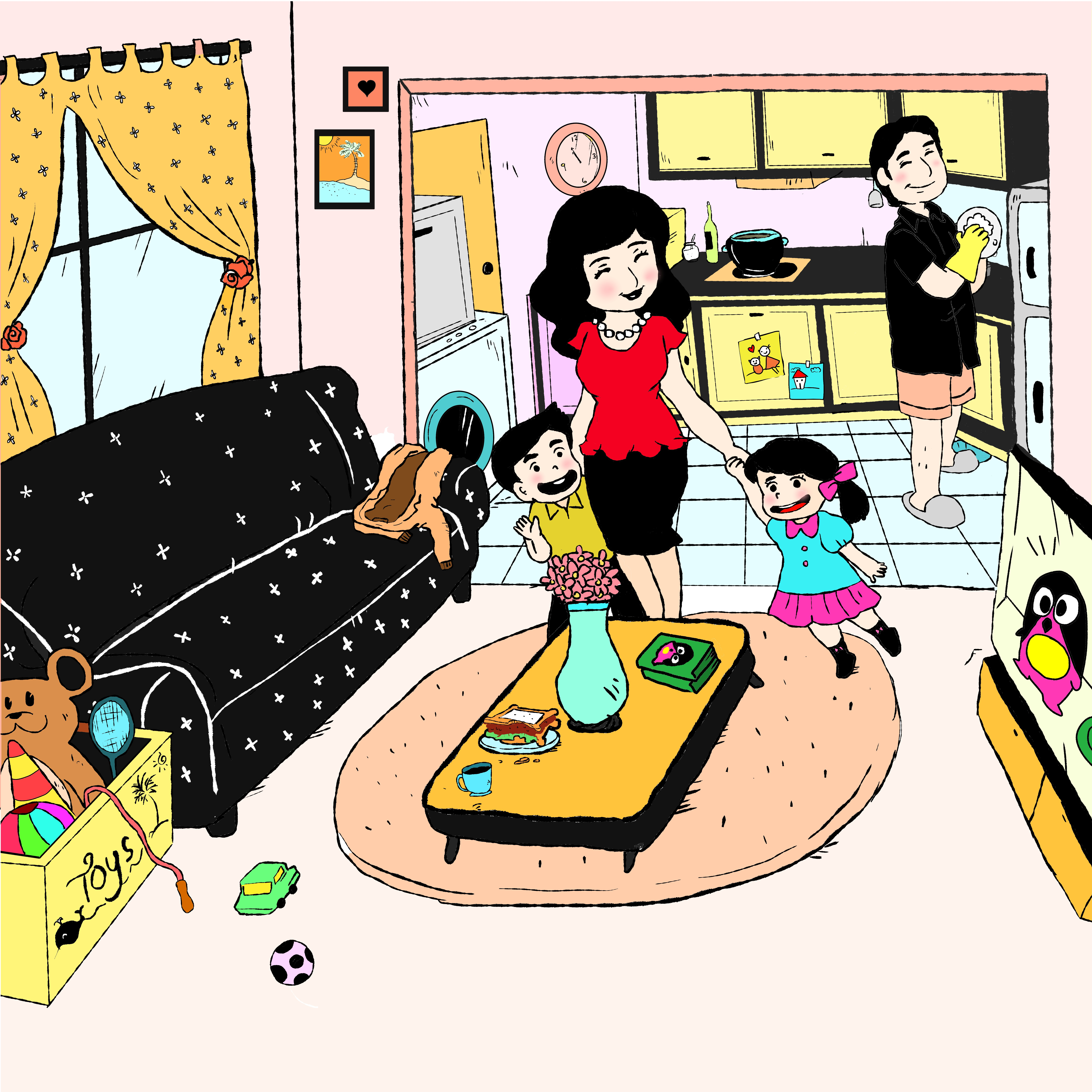 Illustrations for marketing material for book 'Be a S.M.A.R.T Mum not a Good Mum'