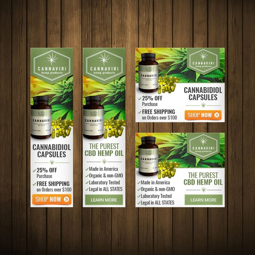 Banner ad for hemp products