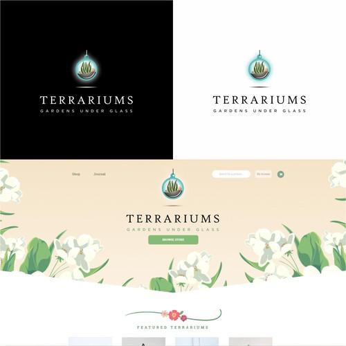 Elegant Logo Concept For Terrarium Shop
