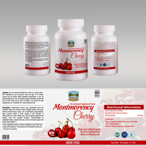 Vitamin/Supplement Bottle Label Design Plus Regular Work After