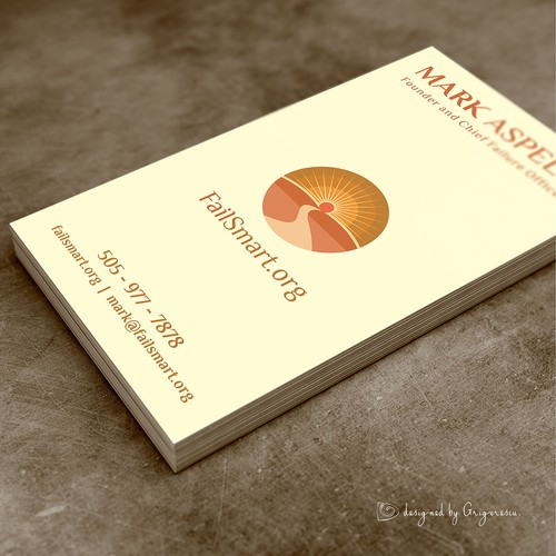 Business Card for Mark Aspelin.