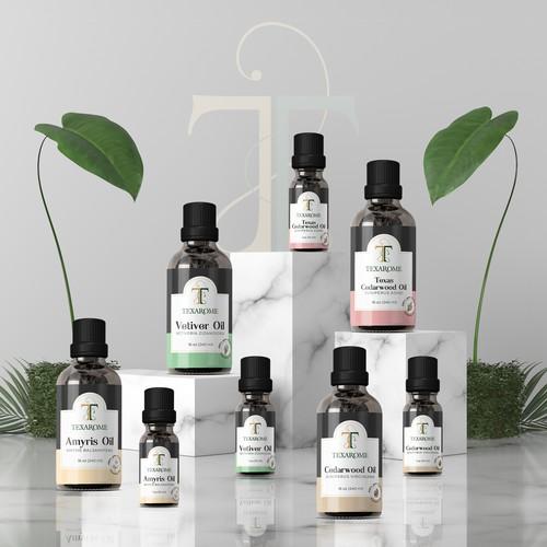 Essential Oil Label Design for Texarome
