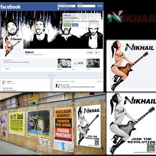 Poster design for Nikhail, Australian band