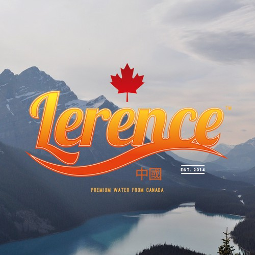 Create a capturing modern logo for the bottled water brand LERENCE