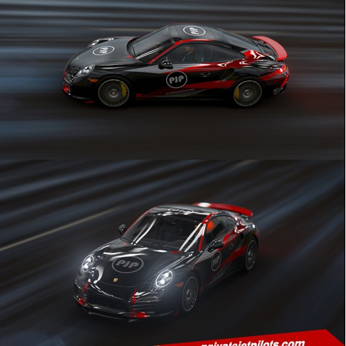 Porsche 997 Turbo wrap design