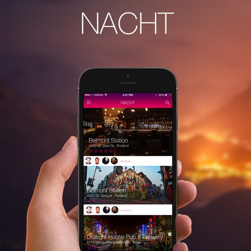 Nacht app design