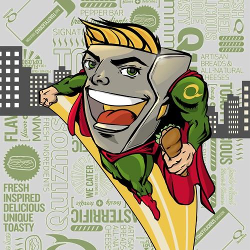 Create a Superhero for Quiznos- Awarding 15 Winning Designs