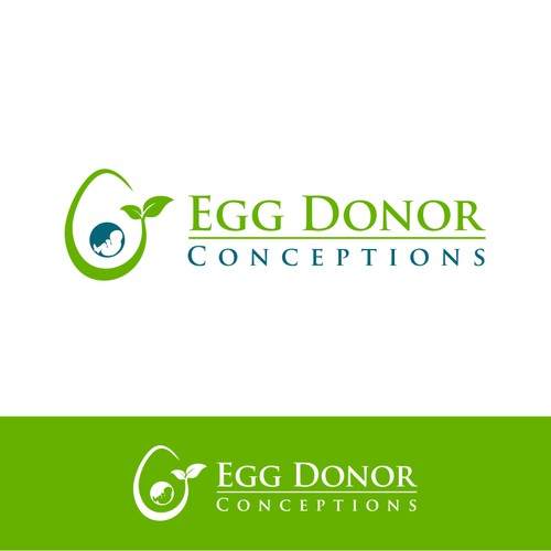 Create a sensitive  logo for a company that offers egg donors to infertile people so they can have b