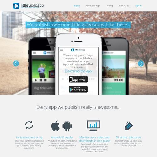 Webdesign for Video App