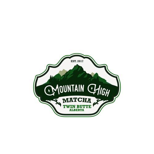 Logo proposal for Mountain High Matcha tea