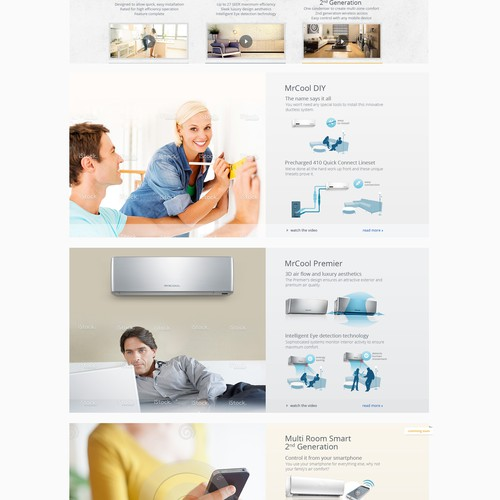 MR COOL website design